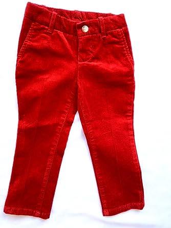 Amazon.com: Ralph Lauren Corduroy Pants Girls Red: Jeans: Clothing