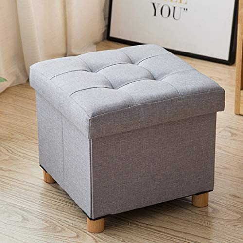Amazon.com: HBJP Storage Ottoman Chair Stool Grey ...