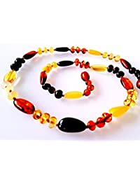 Genuine Baltic Amber Necklace Healing Amber Multi Colour Amber Necklace