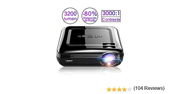 LESHP Proyectores, Beamer Proyectores Video Portátil (3200 lúmenes ...