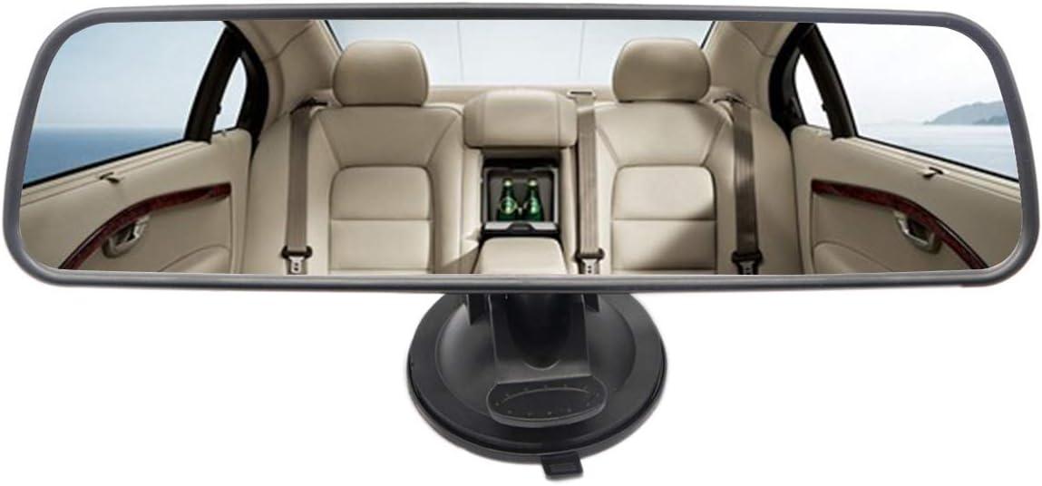 Espejo retrovisor de caballo de corazón, gran angular universal, espejo retrovisor interior con ventosa, espejo retrovisor, versión Delux, espejo liso transparente
