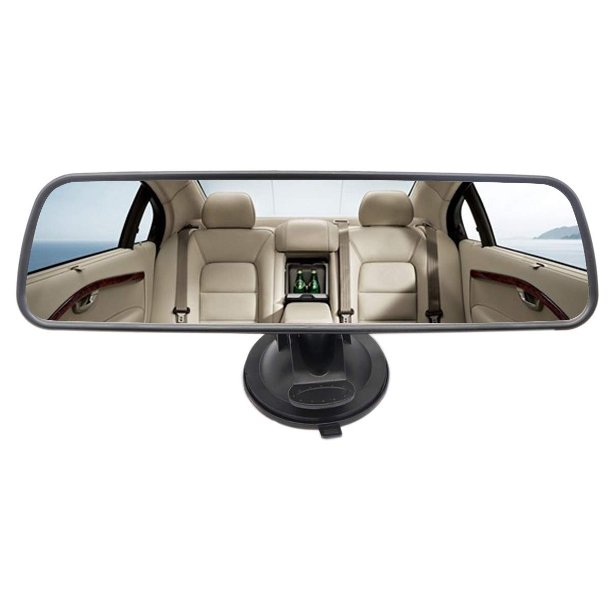 grandangolo universale auto camion specchietto retrovisore interno ventosa specchietto retrovisore Heart Horse Cuore cavallo specchietto retrovisore Clear Plain Mirror Delux version