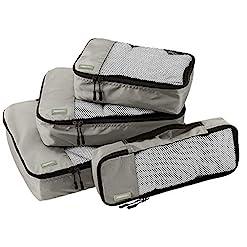 WMB Travel Pro 51IBV6-jKYL._SS247_ Amazon Basics 4 Piece Packing Travel Organizer Cubes Set, Grey