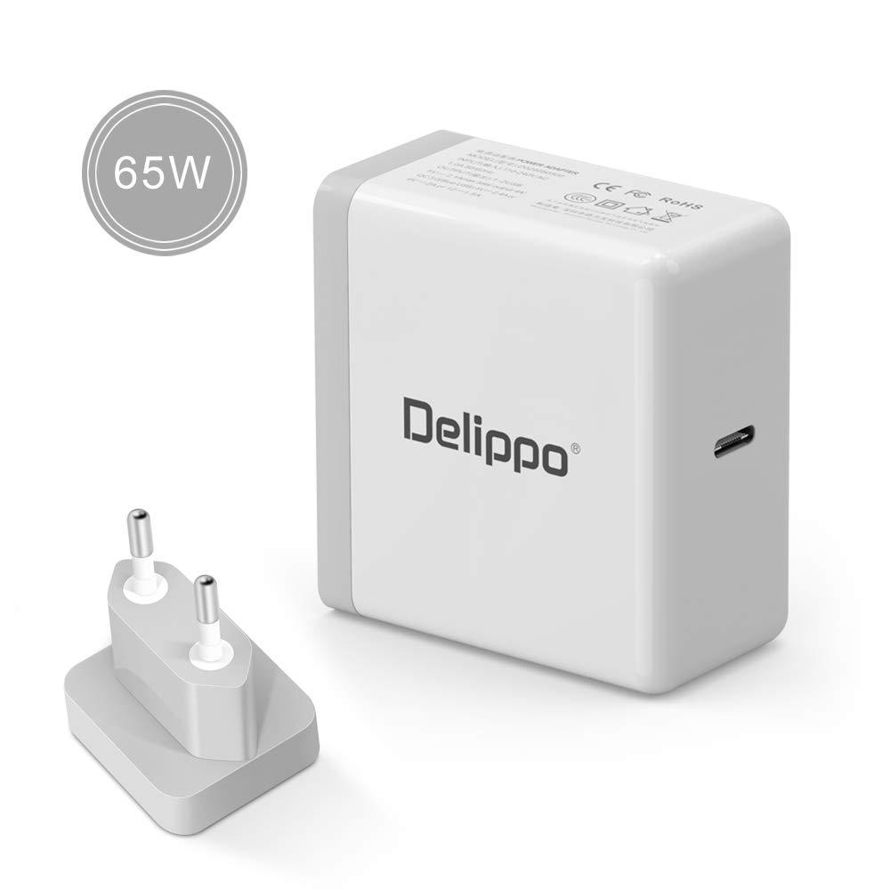 Delippo 65w USB C Tipo C Power Delivery 3.0 Cargador de Pared ...