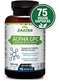 Alpha GPC Choline | 75 Veggie Capsules | 600 mg per Serving | Pharmaceutical Grade | Vegetarian/Vegan | Non-GMO, Soy-Free, Gluten-Free | Supports Healthy Brain Function | Made in USA For Sale
