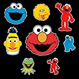 Sesame Street Set Sticker Elmo, Cookie Monster, Big Bird, Bart Pack Cartoon Decal for Car Window, Bumper, Laptop, Skateboard, Wall, ETC. Set-076