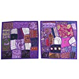 Mogul Indian Cushion Cover Handmade Couch Patchwork Purple Ethnic Pillow Shame