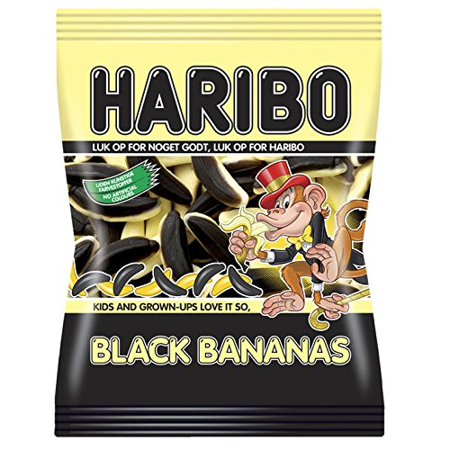 Haribo Black Bananas | Bag of 8.8oz/250gr | Tasty and Rare Candy