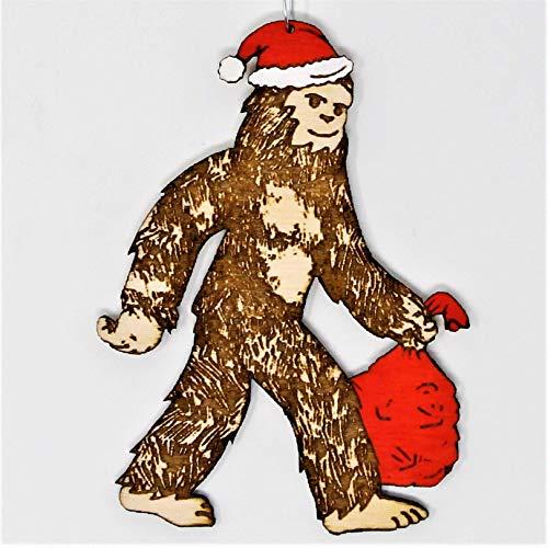 Santasquatch Christmas Ornament | Hand Made Bigfoot Santa Sasquatch Holiday Gift