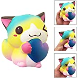 NEEDOON Jumbo Soft Squishy Rising Charms,a Lovely Cute Cartoon Animal Cat Rebound Toys,Stress Relief and Time Killing,for Kids & Adults.