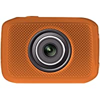 PYLE-SPORTS PSCHD30OR 5.0 Megapixel 720p Sport Action Camera with 2 Touchscreen (Orange) - ONE YEAR Warranty