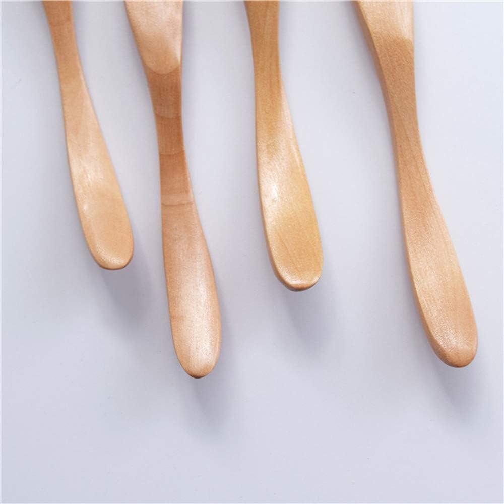 16,5 x 2 cm wiederverwendbar umweltfreundlich 6 St/ück Butterschneider nat/ürliches Holz