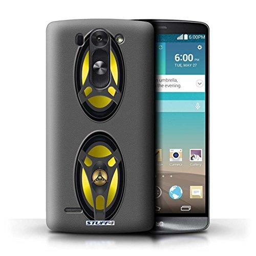 Kobalt® Imprimé Etui / Coque pour LG G3 S (Mini)/D722 / Autoradio conception / Série Haut-Parleur dessin