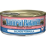 Natural Balance Salmon Formula Wet Cat Food, 5.5-Ounce Can (Pack Of 24) For Sale