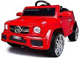 سيارة مرسيدس جيب كهربائي للأطفال , احمر