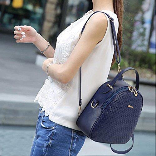 De Las De Elegantes Universidad Viaje De Cuero Señoras Manera Del Daypack Diamante mochila Mini Pu Mochila Bolsas La Azul De De La Mujeres ITtPqwt