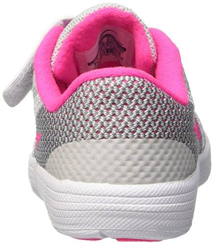 Nike Revolution 3 (TDV), Zapatos de Primeros Pasos Para Bebés Multicolor (Pure Platinum/Pink Blast/Wolf Grey/White 007)