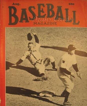 (Baseball Magazine August 1940 (Baseball Magazine/Publication) Dean's Cards 3 - VG )