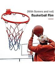 Greatideal Aro De Baloncesto Hanging, Anillo Y Red, Calidad Y Seguridad Comprobadas; Adecuado para Adultos Y Niños Al Aire Libre En Interiores con Tornillo, Dimensiones: 32 Cm