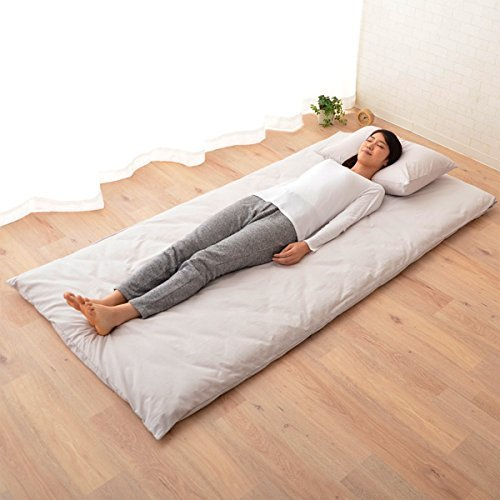 EMOOR Japanese Futon Mattress Classe with 100% Cotton Fitted Sheet (Gray), Full-Long Size (55 x 83in)