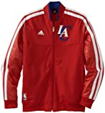 NBA Los Angeles Clippers On-Court Warm-Up Jacket Home Weekday, Small, Red