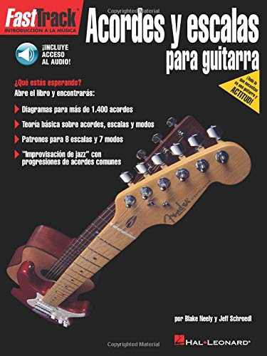 FastTrack Guitar Chords & Scales Spanish Book/Online Audio Hal ...