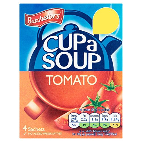 (Original Batchelors Cup A Soup Tomato Batchelors Cup A Soup Tomato Pack British Tomato Soup Instant Tomato Soup)