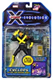Marvel Year 2001 X-Men Evolution 6 Inch Tall Action Figure - CYCLOPS with Op-Tech Training Module and Triple X-Treme Action (Lights-Up, Explodes and Shoots)