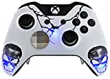 """Skull Blue"" Xbox One ELITE Rapid Fire Custom Modded Controller 40 Mods for All Major Shooter Games, Auto Aim, Quick Scope, Auto Run, Sniper Breath, Jump Shot, Active Reload & More For Sale"