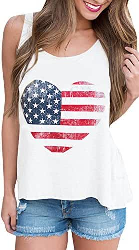 For G and PL Women's American Flag Tank Top