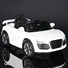 Audi R8 Style Kids 12V Battery Powered Wheels Ride On Car MP3 RC Remote White