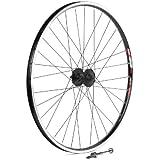 Sta-Tru Black Shimano Deore M525 6-Bolt Disc Hub Front Wheel, 26 x 1.5-Inch