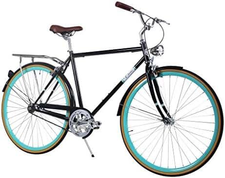 Zycle Fix Civic Men - Black Celeste - Men City Series Single-Speed Urban Commuter Bike