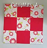 Pick Color - Catnip Blanket, Refillable & Pre Filled with Organic Catnip, 16''x16'' Snuggly Feline Fun, Cat Lover Gift, Cat Mat, Cat Toy, Cat Christmas, Cat Birthday - COLOR SELECTION TO CHOOSE from