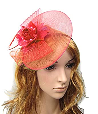 Fascinator Hair Clip Head Hoop Headband Feather Rose Flower Derby Party Wedding