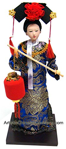 Chinese Gifts / Collectible Chinese Doll - Qing Dynasty Princess Holding Lantern