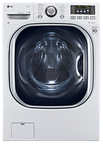 LG WM3997HWA Ventless 4.3 Cu. Ft. Capacity Steam Washer/Dryer Combination with TurboWash, TrueBalance Anti-Vibration System, NeveRust Stainless Steel Drum, Allergiene Cycle in White (Washer And Dryers Combo compare prices)