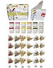 Gin & Tonic-aromadoos met 24 smaakinfusions - ideaal geschenk voor Gin & Tonic cocktails liefhebbers met specerijen en kruiden.