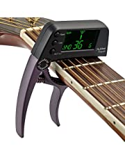 Meideal TCapo20 Quick Change Key Capo Tuner Alloy Material for Acoustic Electric Guitar Bass Chromatic