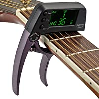 TCapo20 Quick Change Key Capo Tuner Alloy Material for Acoustic Electric Guitar 2