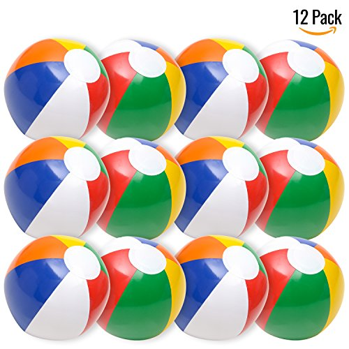 Inflatable Beach Balls Rainbow Color 12