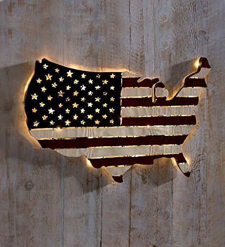 Lighted Americana Flag 32%C2%BEL 21%C2%BCH