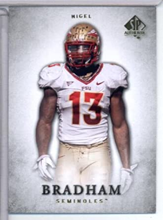 3522fdaa9 Amazon.com  2012 Upper Deck SP Authentic   69 Nigel Bradham RC - Florida  State Simonoles (RC - Rookie Card) NFL Football Trading Card  Collectibles    Fine ...