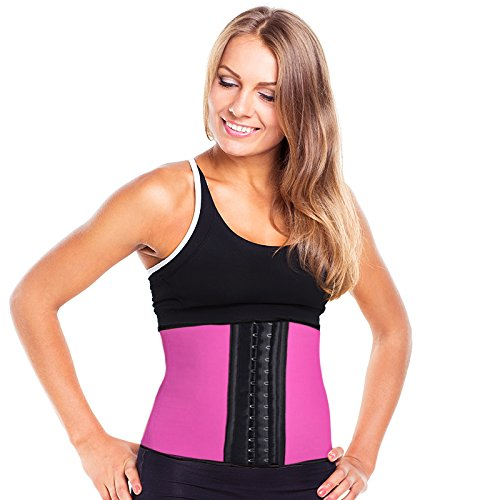 Z-COMFORT Women's Waist Cincher with Three Rows of Hooks, Pink, Large/X-Large from Z-Comfort