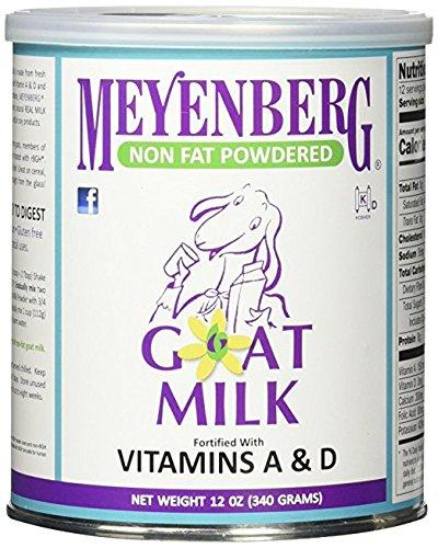 Meyenberg Goat Milk, Non Fat Powdered Goat Milk, 4 Pack (12 oz (340 g) Each) TWskx by Meyenberg (Image #1)
