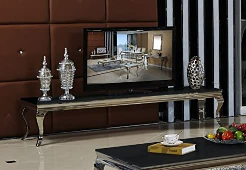 lowboard 200 x 45 x 42 sara schwarz wohnzimmer tv hifi tisch ... - Designer Wohnzimmer Schwarz