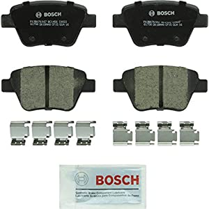 Bosch BC1456 QuietCast Premium Ceramic Disc Brake Pad Set For Select Audi A3, A3 Quattro, A4; Volkswagen Beetle, Eos, Golf, Golf SportWagen, GTI, Jetta, Passat; Rear