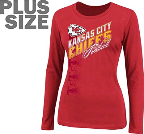 new style f0745 2af4e Amazon.com : NFL Team Apparel Kansas City Chiefs Womens Plus ...