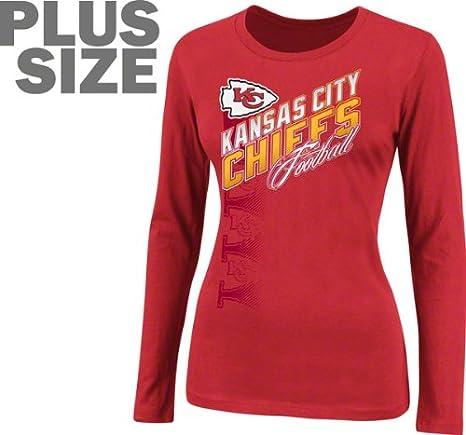 new style 1524b 66319 Amazon.com : NFL Team Apparel Kansas City Chiefs Womens Plus ...