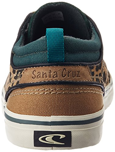 O'Neill Men's Santa Cruz Suede Low-Top Trainer Tan & Animal Print kDUUkOR